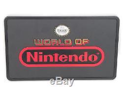 Panneau D'affichage En Plastique À Double Face Vintage World Of Nintendo, 12 X 7 Po