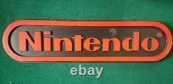 Panneau D'affichage Nintendo Store 48x12 Noir Et Rouge Rétro Rétro