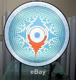 Panneau De Projection Extérieur Rond Double Face À Led 60cm, Plaine D60