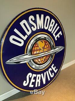 Panneau De Service Original Pour Concessionnaire Oldsmobile En Porcelaine À Double Face 60