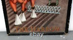 Panneau De Taverne, Double Face, The Harrow, D'origine Anglaise