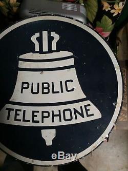 Panneau Métallique Original Vintage Avec Système De Sonnerie Double Avec Système De Sonnerie Bell