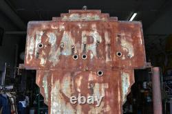 Panneau Neon Double Face Art Déco Verre De Paris Early Tin Can Original Antique Rare
