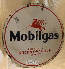 Panneau Publicitaire Rond En Porcelaine Antique Pegasus Pegasus