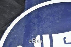 Panneau Publicitaire Vintage En Métal À Double Face Pour 18 Diamètres, Large