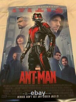 Paul Rudd Signed Full-size Double Sided Ant-man Poster Exact Proof Coa Autographe