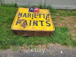 Peintures Originales Vintage Marrietta Porcelaine Double Face Neon Panneau 43 X 43 X 9