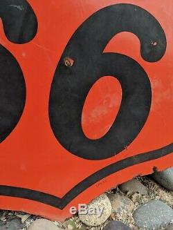 Phillips Originale 66 Porcelain Double Face Sign 30. Sps 55 Gaz Vintage Et Huile
