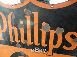 Phillips Originale Porcelaine 66 Signe Veribrite Signes Chicago 47 Double Face