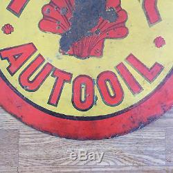 Plaque A Gaz En Gaz Et A L'huile De Porcelaine De 1920-1930 Double Face