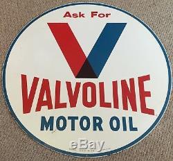 Plaque En Métal Originale Double Face Valvoline