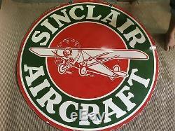 Plaque En Porcelaine De Sinclair En Email Émaillé Taille 48 Rond Double Face