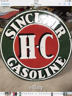Plaque En Porcelaine Double Face Sinclair H-c 48