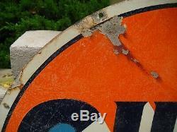 Plaque Vintage Gulf Gas En Porcelaine 42