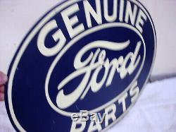Plus Double Face Ford Genuine Parts Émail Sign 16 X 24