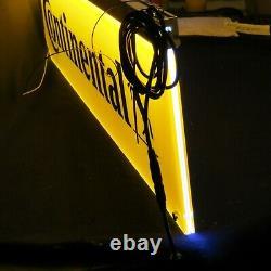 Pneus Continentaux Double Faces Lighted Shop Sign Signe La Publicité Light Publicité Look