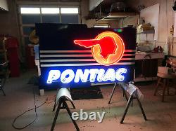 Pontiac Ph-21 6ft Double Face Pontiac Neon Approuvé Concessionnaire Signe Nouveau