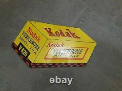 Porcelaine Kodak Verichrome Enamel Sign Size 13 X 24 Inches Double Sided