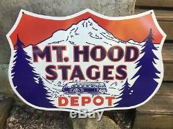Porcelaine Mt. Connexion Hood Bus Depot Taille 30 X 30 Pouces Double Face