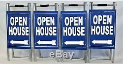 Portes Ouvertes Kit 4 Signe De Yard Métal 12x28 A Frame 4 Double Face Signes 12x18