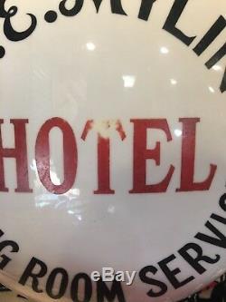 Publicité Ancienne L. E. Mylin Hotel Service De Salle A Manger Globe Double Face