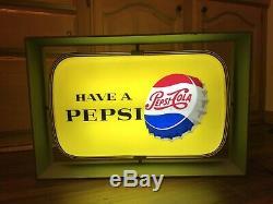 Publicité Vintage Avoir Un Pepsi Double Face Années 1950 Diner Light All Original