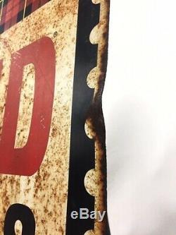 Publicité Vintage Grands Tampons À Carreaux Double Face Tin Sign
