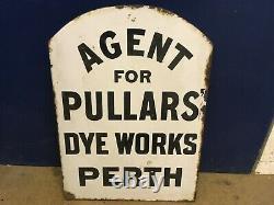Pullars' Dye Works Enamel Signe Double Sided Original