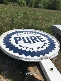 Pure Signe Station De Gaz Et Pôle Double Face Porcelaine 18 Grand