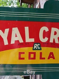 Rare 1936 Crown Royal Cola Bride Sign. Double Face. 18inx10.75in. Original