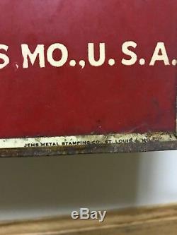 Rare Années 1930 Signe De Bière Budweiser Tin St Louis Mo Double Face Vintage Busch Old