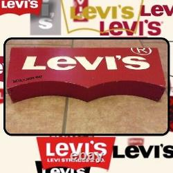 Rare Double Sided Genuine Vintage Levis Jean Shop Display Logo Advertising Sign