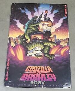 Rare Godzilla Vs Charles Barkley Nike Store Double Sided Hanging Carboard Signe