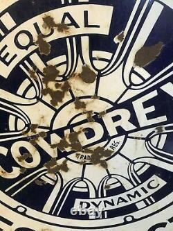 Rare Original Vintage 1920s Cowdrey Freins Double Côté Porcelaine Signe / 1930s