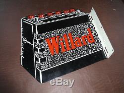 Rare Piles À Gaz À Bride Double Côté Willard Batteries Signes Des Années 1950 Sans Porcelaine