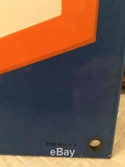 Rare! Plaque Originale En Porcelaine Double Face Bosch Sales & Service 16x24 Originale