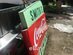 Rare Signe Difficile De Trouver Un Signe De Service De Fontaine De Coca-cola 60x 58x 5