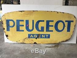 Rare Signe Vintage En Porcelaine Peugeot Agent Vintage