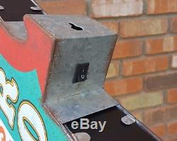 Salle De Jeux Gameroom Plug-in Double Face Rectangle En Métal Rustique Light Up Arrow Sign