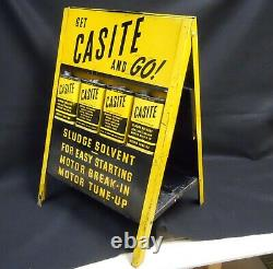 Service /station-service Casite Motor Oil Additive Double-sided Display Rack W Cans