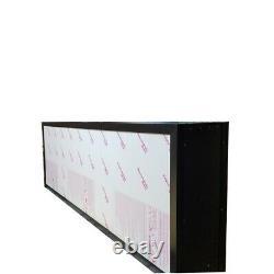 Signal De Box À Double Face, Panneaux, Panneau De Pôle, Panneau De Marque 24x96x10'' Alum Extrudé