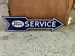 Signal De La Porcelaine Arrière De Service Ford (48x13) Near Mint