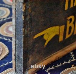 Signe Antique De Commerce Directionnel À Double Face En Bois