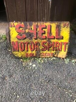 Signe D'émail Vintage Spell Spirit Moteur Suspendu Mémorabilia À Moteur À Double Face