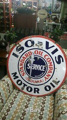 Signe D'huile De Moteur D'oin Vis De Porcelaine Standard À Double Face D'original 30 D'huile