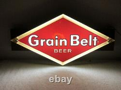 Signe De Bière De Ceinture De Grain De Cru Allumé Signe Double Face