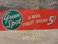 Signe De Boisson Vintage Orangeade Tache Verte Vintage Antique Orange 9536