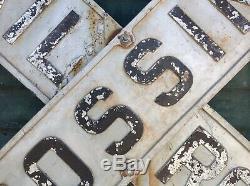Signe De Croisement De Chemin De Fer Rr Vintage En Fonte Gaufré Antique À Double Face 48