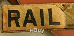 Signe De Crossbuck Crosstuck Double Face Ferroviaire 48 Vtg Original 48