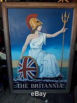 Signe De Pub Suspendu Double Face Britannia